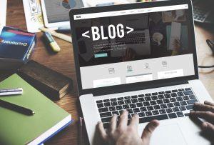 Blog on Laptop