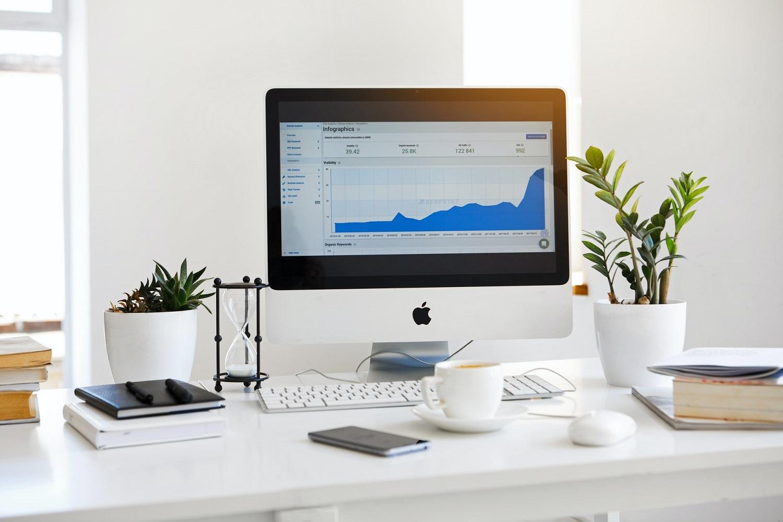 digital marketing computer screen